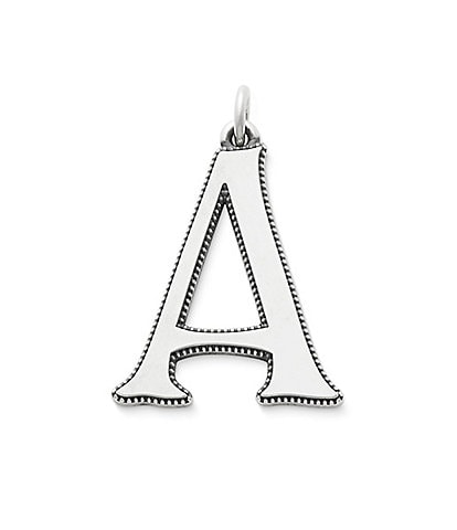 James Avery Vintage Alphabet Initial Pendant