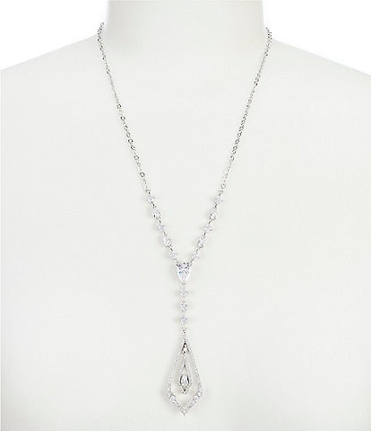 Jenny Packham Crystal Pendant Y Necklace