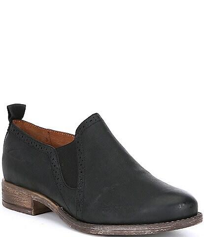 Josef Seibel Sienna 91 Slip On Leather Block Heel Loafers