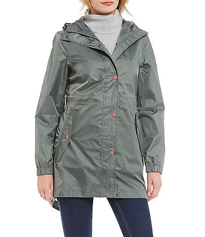 Joules Golightly Pack Away Waterproof Hooded Raincoat