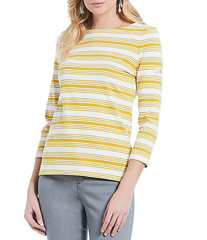 Joules Harbour Knit Striped Top