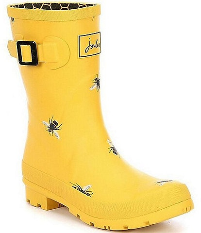 Joules Mid Molly Welly Floral Print Rain Boot
