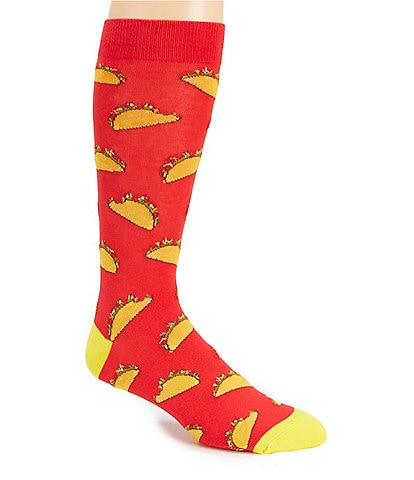 K. Bell Novelty Taco Crew Socks