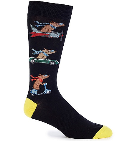K. Bell Novelty Traveling Dogs Crew Socks
