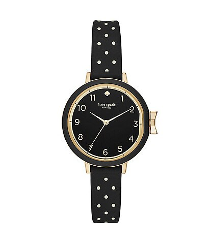 kate spade new york Park Row Analog Dotted Silicone-Strap Watch