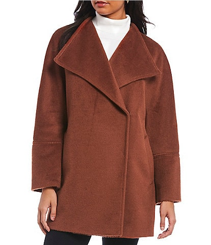 Katherine Kelly Alpaca Wool Envelope Collar Coat