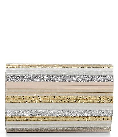 Kurt Geiger Party Resin Stripe Envelope Clutch