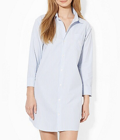 Lauren Ralph Lauren Striped Sleepshirt