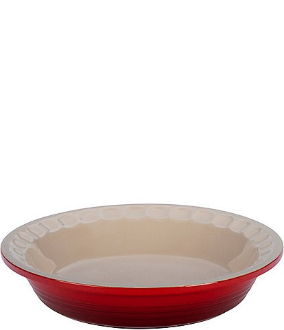 Le Creuset Heritage 9#double; Scalloped Stoneware Pie Dish