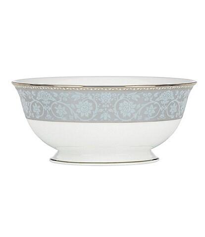 Lenox Westmore Floral Platinum Bone China Serving Bowl