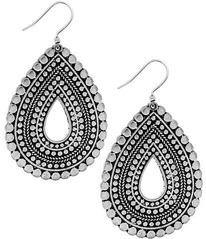 Lucky Brand Tribal Teardrop Statement Earrings