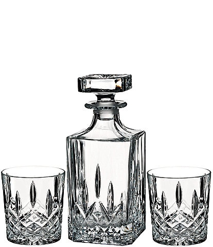 Marquis by Waterford Markham Crystalline Square Decanter & Double Old Fashioned Bar Set
