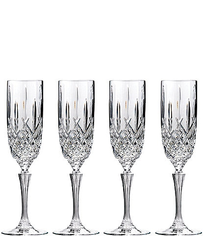 Marquis by Waterford Markham 4-Piece Traditional Crystal Flute Set
