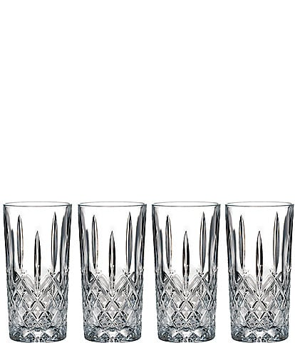 Marquis by Waterford Markham 4-Piece Traditional Crystal Highball Glass Set