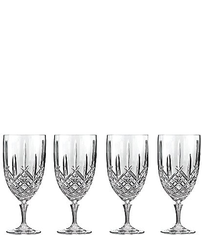 Marquis by Waterford Markham 4-Piece Traditional Crystal Iced Beverage Glass Set