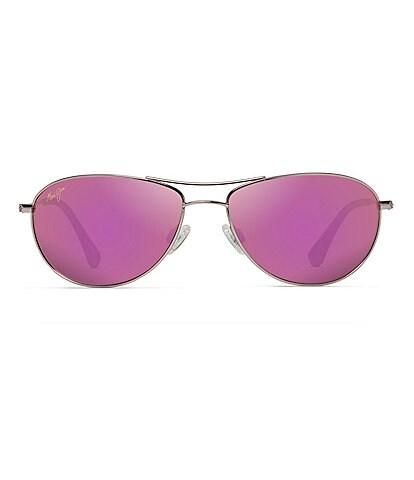 Maui Jim Baby Beach Polarized Mirrored Aviator Sunglasses