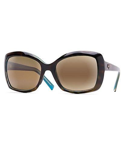 Maui Jim Orchid Polarized Oversized Square Sunglasses