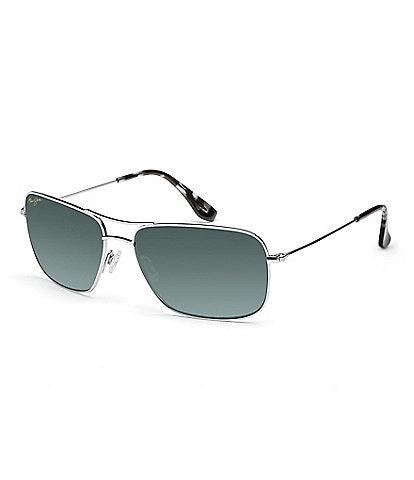 Maui Jim Wiki Wiki Double Bridge Silver Polarized Glare and UV Protection Sunglasses