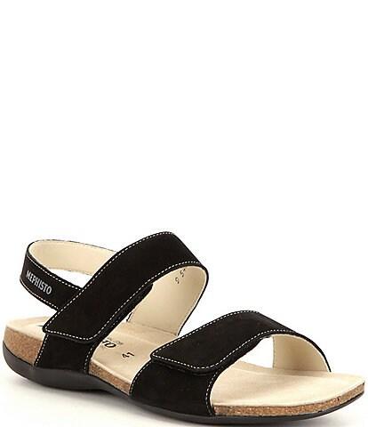 Mephisto Agave Nubuck Banded Slingback Sandals