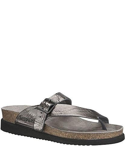 Mephisto Helen Water-Repellent Nubuck Slip-On Sandals
