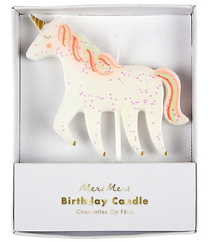 Meri Meri Unicorn Glitter Party Candle