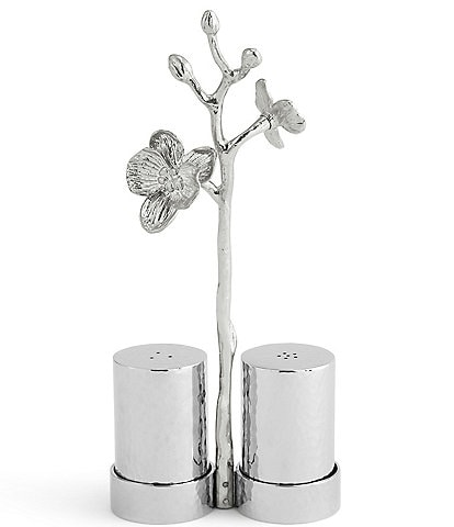 Michael Aram White Orchid Salt & Pepper Set with Caddy