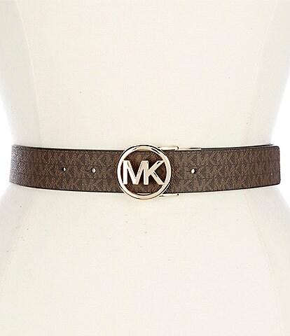Michael Kors Reversible Logo Buckle PVC Belt
