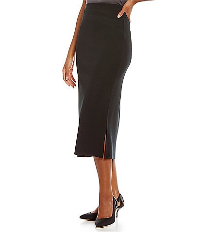 Ming Wang Midi Length Pencil Skirt
