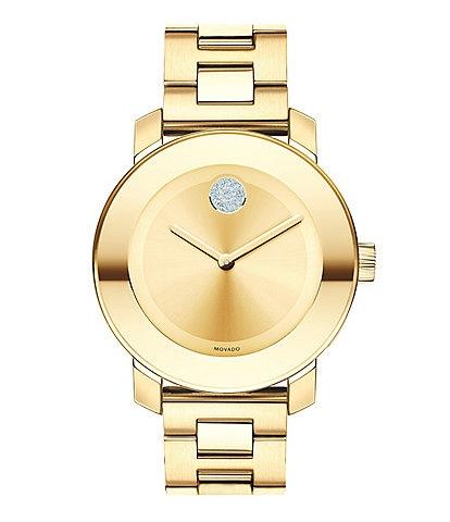 Movado Bold Bracelet Watch with Swarovski Crystal