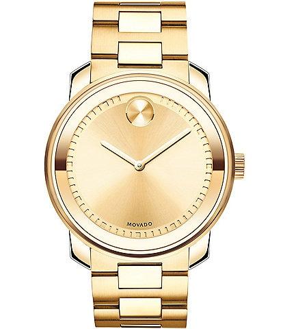 Movado Bold Large PVD Analog Bracelet Watch