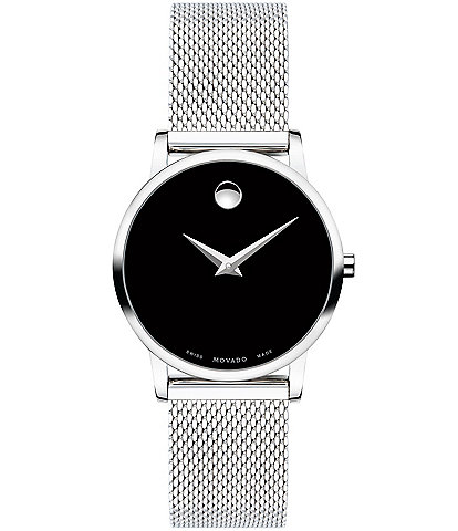 Movado Museum Classic Stainless Steel Black Watch
