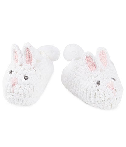 Mud Pie Baby Girls Newborn-3 Months Bunny Crochet Booties