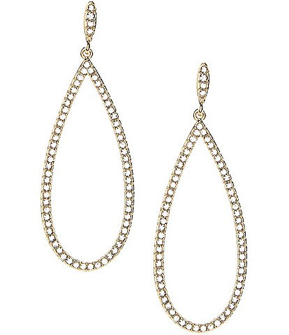 Nadri Open Teardrop Pav Earrings