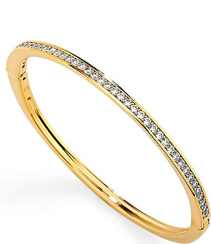 Nadri Railed CZ Hinge Bangle