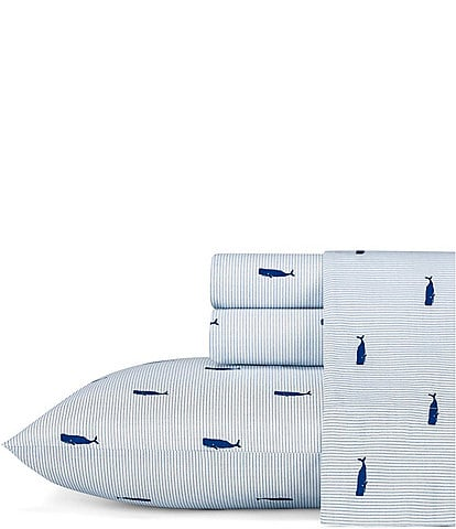 Nautica Whale Stripe Percale Sheet Set