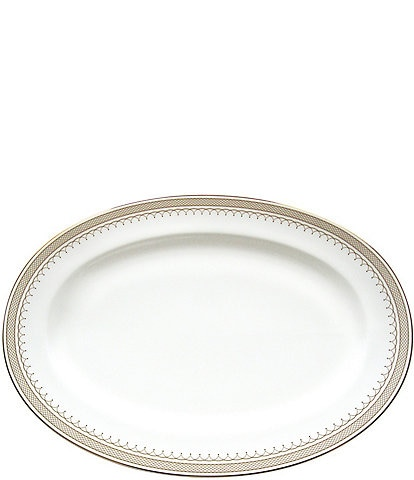 Nikko Lattice Gold Bone China Oval Platter