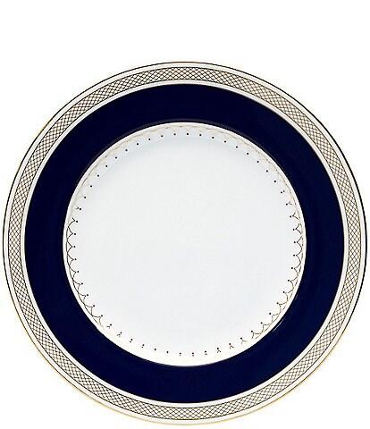Nikko Lattice Gold Scalloped Bone China Accent Salad Plate