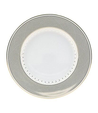 Nikko Lattice Gold Scalloped Bone China Salad Plate
