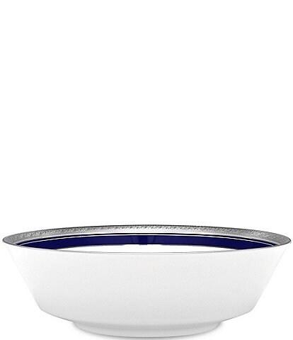 Noritake Crestwood Cobalt Platinum Porcelain Round Vegetable Bowl