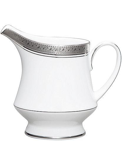Noritake Crestwood Etched Platinum Porcelain Creamer
