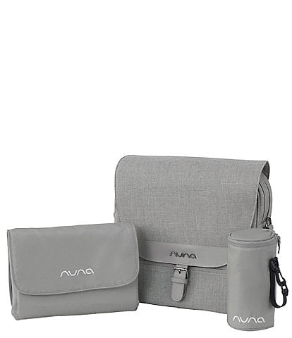 Nuna Diaper Bag with Insulated Bottle Bag and Changing Pad Clutch