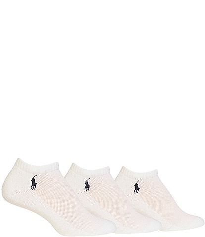 Polo Ralph Lauren Cushioned Mesh-Top Polo Sport Socks 3-Pack