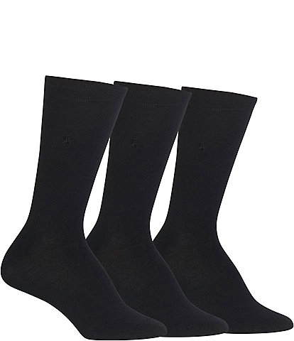 Polo Ralph Lauren Flat Knit Trouser Socks 3-Pack