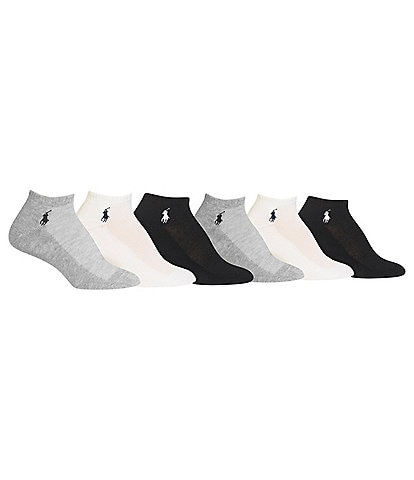 Polo Ralph Lauren Low-Cut Mesh-Top Sport Socks 6-Pack