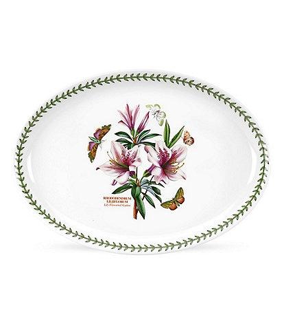 Portmeirion Botanic Garden Lily Flowered Azalea Platter/Oval Serving Dish