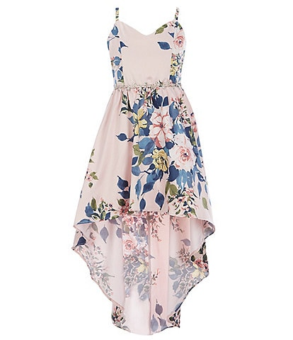 Rare Editions Big Girls 7-16 Floral High-Low Ballgown
