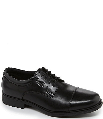 Rockport Men's Essential Details Waterproof Cap-Toe Dress Shoes