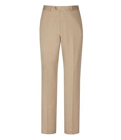 Roundtree & Yorke Classic Fit Travel Smart Flat Front Microfiber Stretch Dress Pants