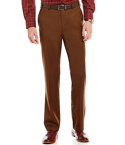 Roundtree & Yorke Travel Smart Ultimate Comfort Classic Fit Flat Front Non-Iron Twill Dress Pants