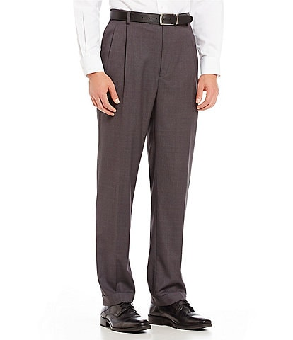 Roundtree & Yorke Travel Smart Ultimate Comfort Classic Fit Pleat Front Non-Iron Twill Dress Pants